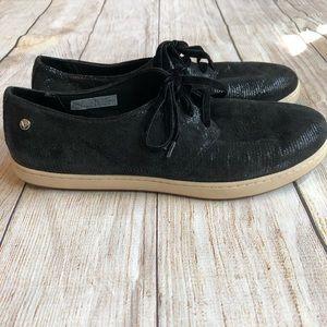 Vionic Palermo Lace Up Sneaker Black Snake Shimmer